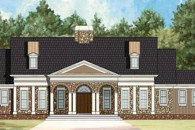 Dream House Plan - Colonial Exterior - Front Elevation Plan #119-328