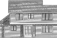 Traditional Exterior - Rear Elevation Plan #70-226