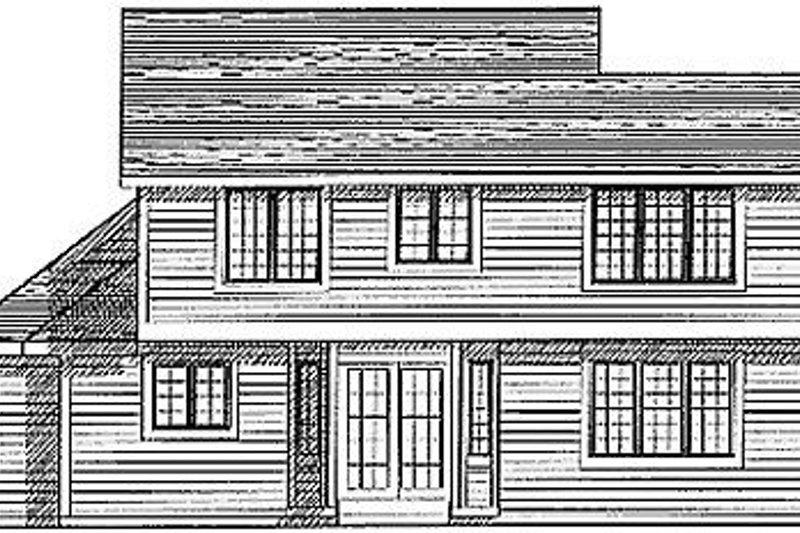 Traditional Exterior - Rear Elevation Plan #70-226 - Houseplans.com