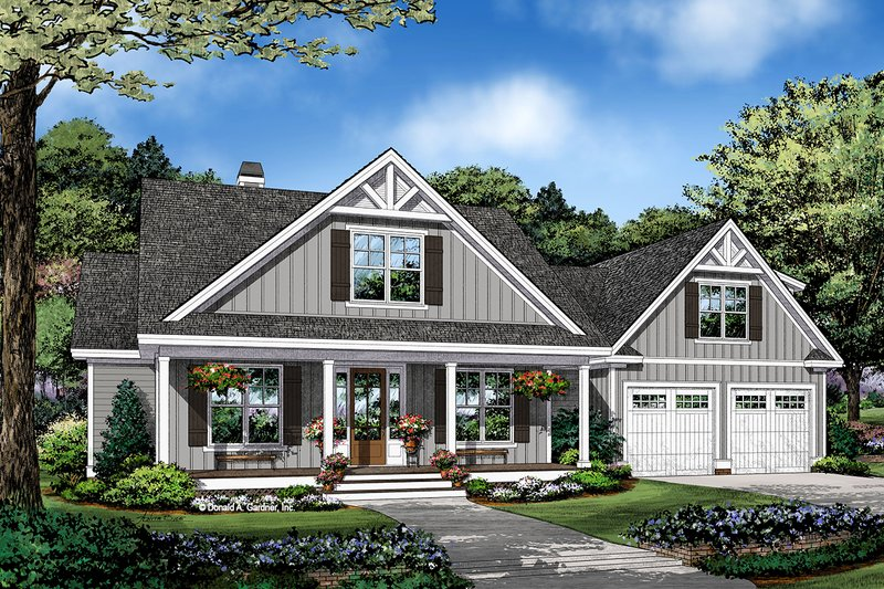 Dream House Plan - Craftsman Exterior - Front Elevation Plan #929-1123