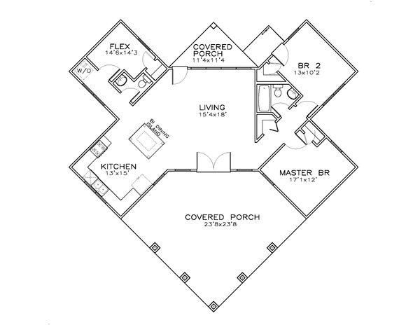 Southern Floor Plan - Main Floor Plan #8-300