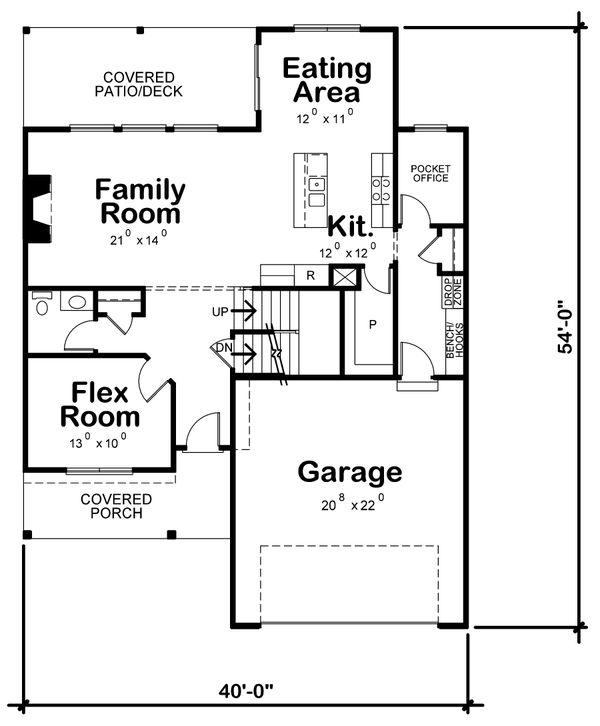Traditional Floor Plan - Main Floor Plan Plan #20-2397