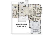 Farmhouse Floor Plan - Main Floor Plan Plan #51-1138