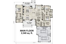 Farmhouse Floor Plan - Main Floor Plan Plan #51-1138