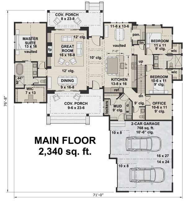 Home Plan - Farmhouse Floor Plan - Main Floor Plan #51-1138
