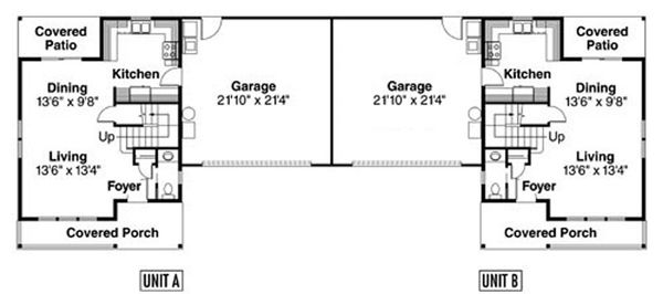 Craftsman Floor Plan - Main Floor Plan Plan #124-811