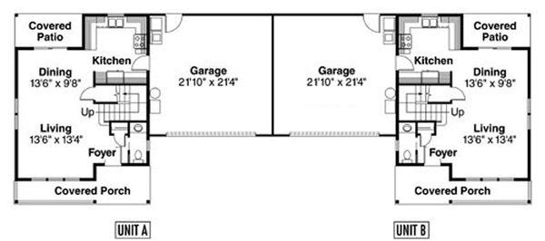 Craftsman Floor Plan - Main Floor Plan Plan #124-811
