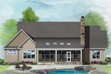 House Design - Ranch Exterior - Rear Elevation Plan #929-1089