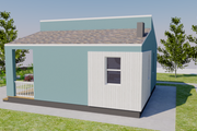 Contemporary Style House Plan - 2 Beds 1 Baths 713 Sq/Ft Plan #542-14 Exterior - Other Elevation