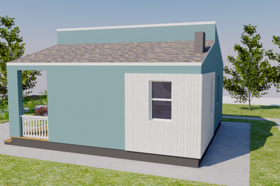 Contemporary Exterior - Other Elevation Plan #542-14