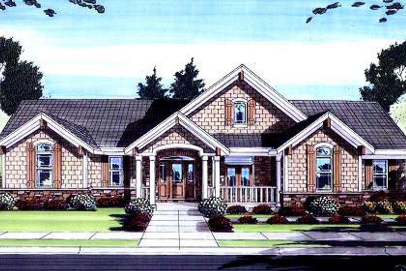 Architectural House Design - Bungalow Exterior - Front Elevation Plan #46-420