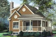 Country Style House Plan - 3 Beds 1 Baths 1221 Sq/Ft Plan #25-4196 Exterior - Front Elevation