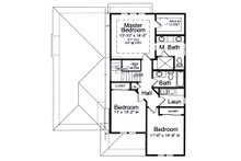 Contemporary Floor Plan - Upper Floor Plan Plan #46-893