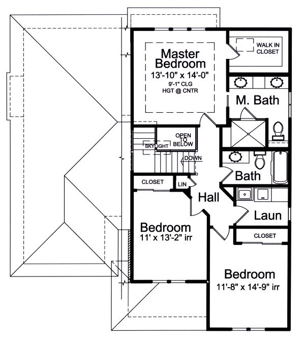 House Plan Design - Contemporary Floor Plan - Upper Floor Plan #46-893