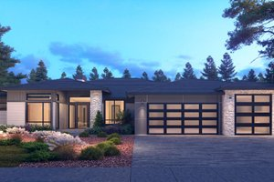 Contemporary Exterior - Front Elevation Plan #1066-115