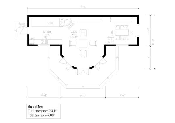 Cottage Floor Plan - Main Floor Plan #549-16