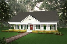Home Plan - Southern Exterior - Front Elevation Plan #44-107