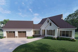 Farmhouse Exterior - Front Elevation Plan #923-120