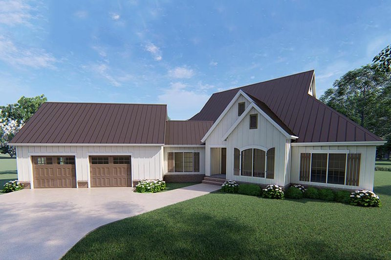 Farmhouse Style House Plan - 3 Beds 3.5 Baths 3004 Sq/Ft Plan #923-120 Exterior - Front Elevation