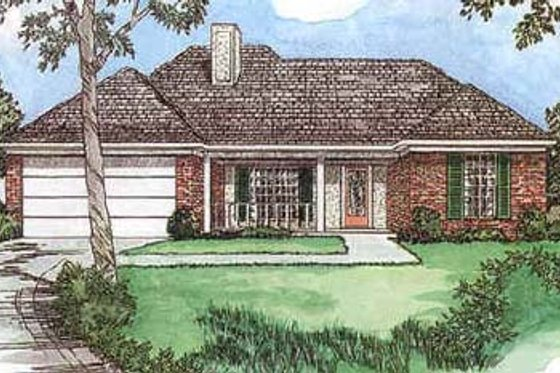 Traditional Exterior - Front Elevation Plan #16-107