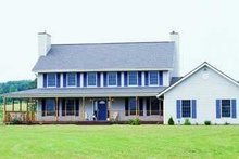Colonial Exterior - Front Elevation Plan #72-168