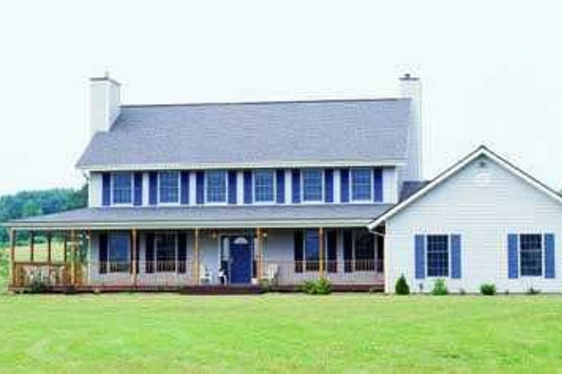 Colonial Exterior - Front Elevation Plan #72-168 - Houseplans.com