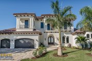Mediterranean Style House Plan - 4 Beds 4.5 Baths 5848 Sq/Ft Plan #27-489 Exterior - Front Elevation