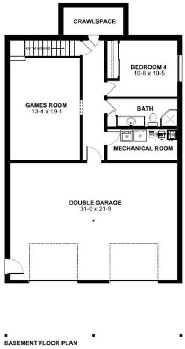Cottage Floor Plan - Lower Floor Plan #126-167