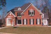 Southern Style House Plan - 4 Beds 3.5 Baths 3154 Sq/Ft Plan #129-156 Exterior - Front Elevation