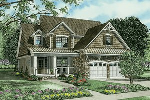 Country Exterior - Front Elevation Plan #17-2268
