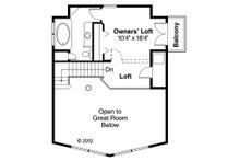 Cabin Floor Plan - Upper Floor Plan Plan #124-510