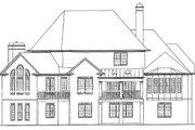 European Style House Plan - 5 Beds 4.5 Baths 4496 Sq/Ft Plan #54-163 Exterior - Rear Elevation