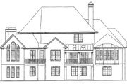 European Style House Plan - 5 Beds 4.5 Baths 4496 Sq/Ft Plan #54-163 Exterior - Rear Elevation