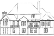 House Design - European Exterior - Rear Elevation Plan #54-163