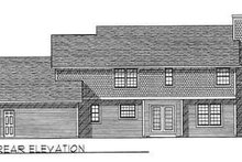 Country Exterior - Rear Elevation Plan #70-348
