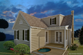 Cottage Style House Plan - 3 Beds 2 Baths 983 Sq/Ft Plan #489-5 Exterior - Rear Elevation