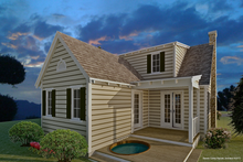 Home Plan - Cottage Exterior - Rear Elevation Plan #489-5