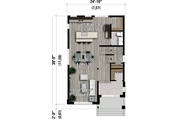 Contemporary Style House Plan - 3 Beds 1.5 Baths 1577 Sq/Ft Plan #25-4897