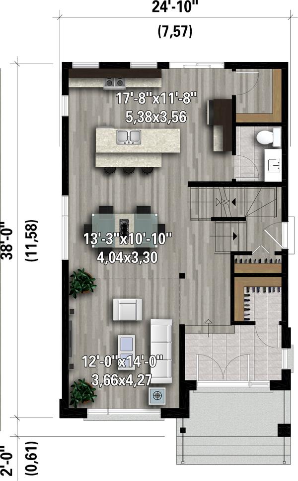 House Plan Design - Contemporary Floor Plan - Main Floor Plan #25-4897