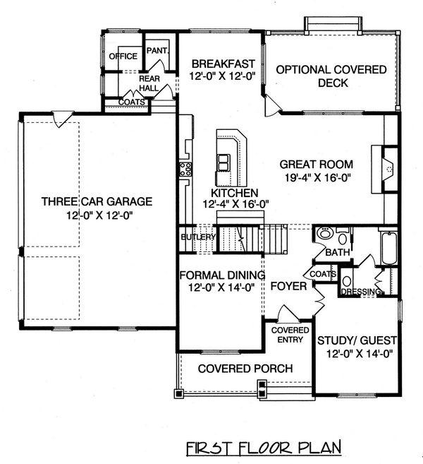 Craftsman Floor Plan - Main Floor Plan Plan #413-841