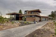 Modern Style House Plan - 4 Beds 4.5 Baths 3836 Sq/Ft Plan #892-32 Exterior - Front Elevation