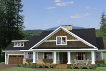 House Plan Design - Craftsman Exterior - Front Elevation Plan #51-513