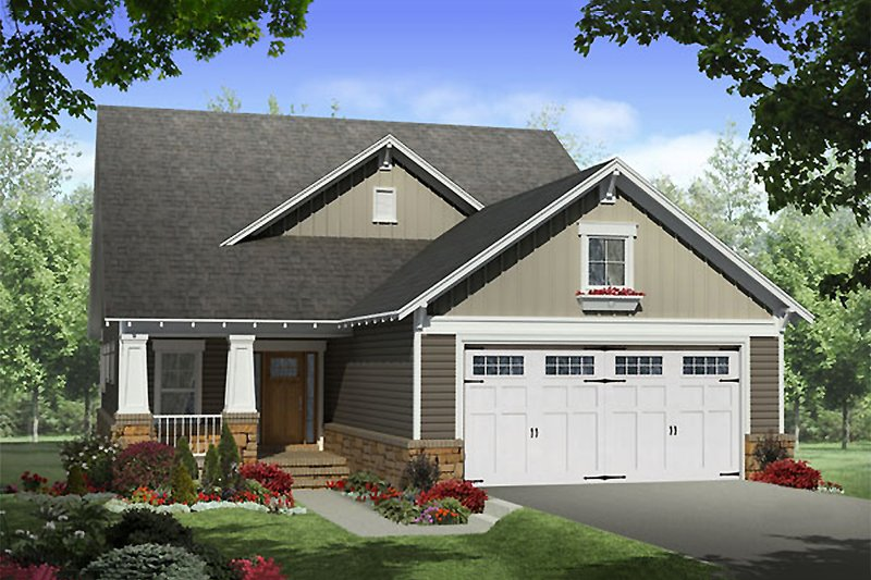 Dream House Plan - Craftsman Exterior - Front Elevation Plan #21-265