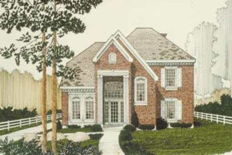 European Exterior - Front Elevation Plan #410-199 - Houseplans.com