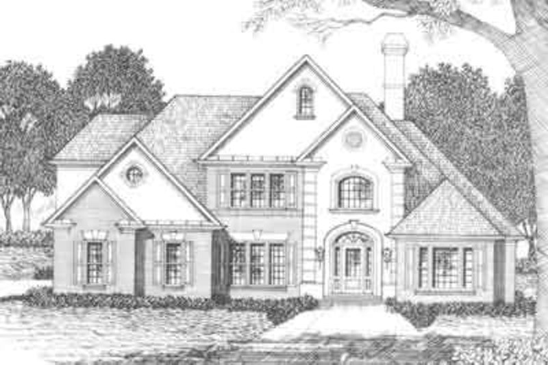 European Exterior - Front Elevation Plan #129-154