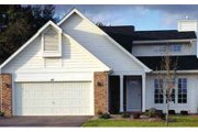 Country Style House Plan - 2 Beds 2 Baths 1317 Sq/Ft Plan #320-347 Exterior - Front Elevation