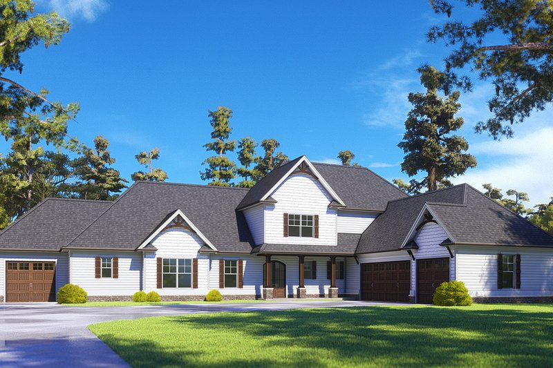 Craftsman Exterior - Front Elevation Plan #437-111