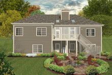 Craftsman, Country, Rear Elevation,