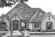 European Style House Plan - 4 Beds 3 Baths 2675 Sq/Ft Plan #310-544 Exterior - Front Elevation