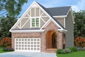 Home Plan - Tudor Exterior - Front Elevation Plan #419-196